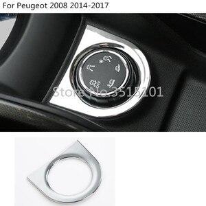 Автомобильный Стайлинг корпус крышка дорожного движения состояние вращения поворотный переключатель кнопка кольцо Рамка для Peugeot 2008 2014 2015 ...