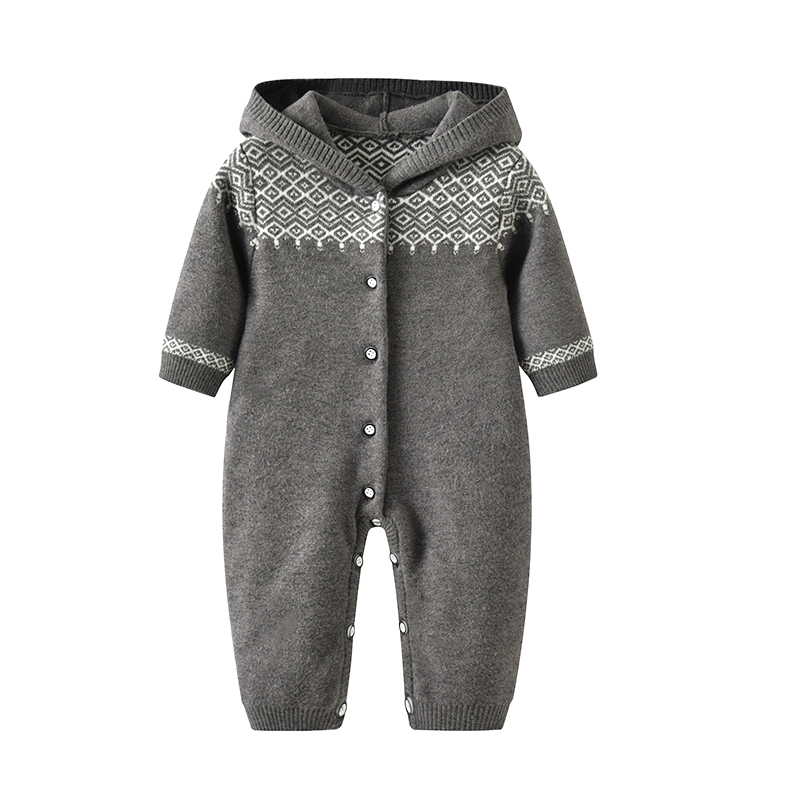 newborn baby long sleeves romper knit Baby Clothes baby winter snowsuit Newborn bebes Hooded Clothes Boys Jumpsuit Coverall baby clothes winter infant romper baby boys girls jumpsuit newborn unisex polka dot clothing hooded toddler cute baby snowsuit