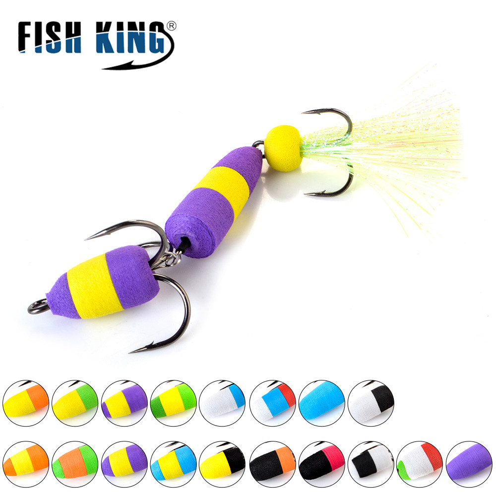 FISH KING 18colors Bass Fishing Lure Soft Lure Swim baits Wobblers Insect Bait Fishing Bait For Fishing Tackle