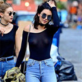 Bodysuit Top Overalls For Women Rompers Sexy Mesh Slash Neck Hollow Out See Through Night Club Wear Long Sleeve Summer A777