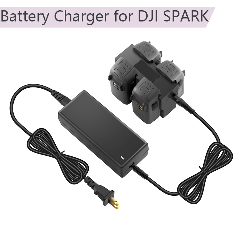 4in1 Fast Charger Battery Charger for DJI SPARK Intelligent Flight Battery Charging Hub 100-240V AC Input DC 13.05V/2.2A Output battery charger w usb power output for samsung i9260 black ac 100 240v 2 flat pin plug