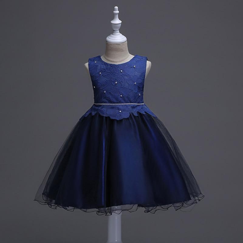 Fashion Flower Girls Dress Beige Sparkling Sequin Wedding Princess 2017 Summer Party Dresses Girl Clothes Size 4-10