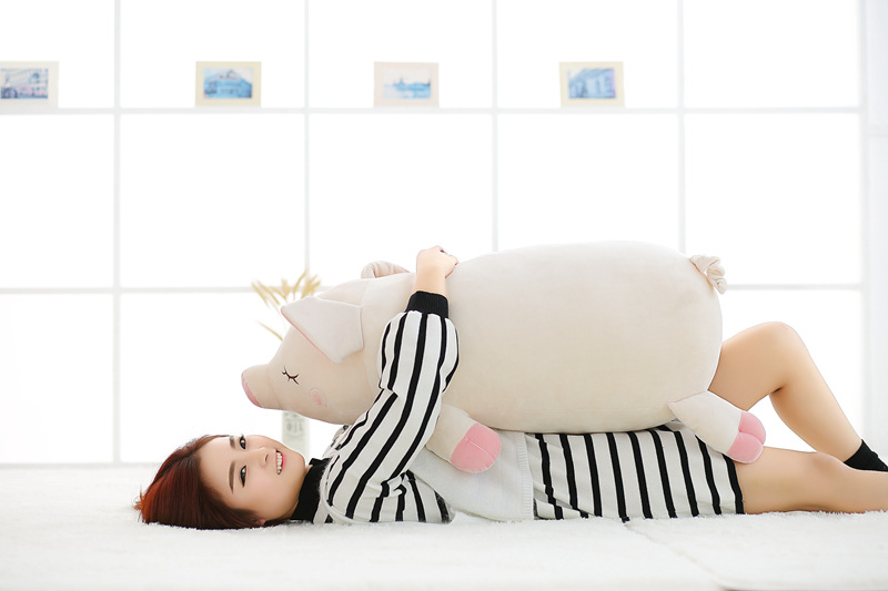 big lovely plush pig toy pillow stuffed white pig doll gift about 80cm big creative plush elephant toy lovely stuffed jungle elephant gift doll about 80cm
