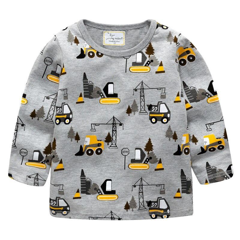 Saltar metros camiseta de los niños ropa de bebé niño de la carretilla elevadora de los niños T camisa Niño niño manga larga Tops 2018 marca chico camisa