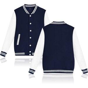 Image 3 - טהור צבע בייסבול מעיל באיכות גבוהה חם גבוהה צווארון מזדמן אופנה החורף/סתיו עבה בתוספת גודל מעילי מותאם אישית