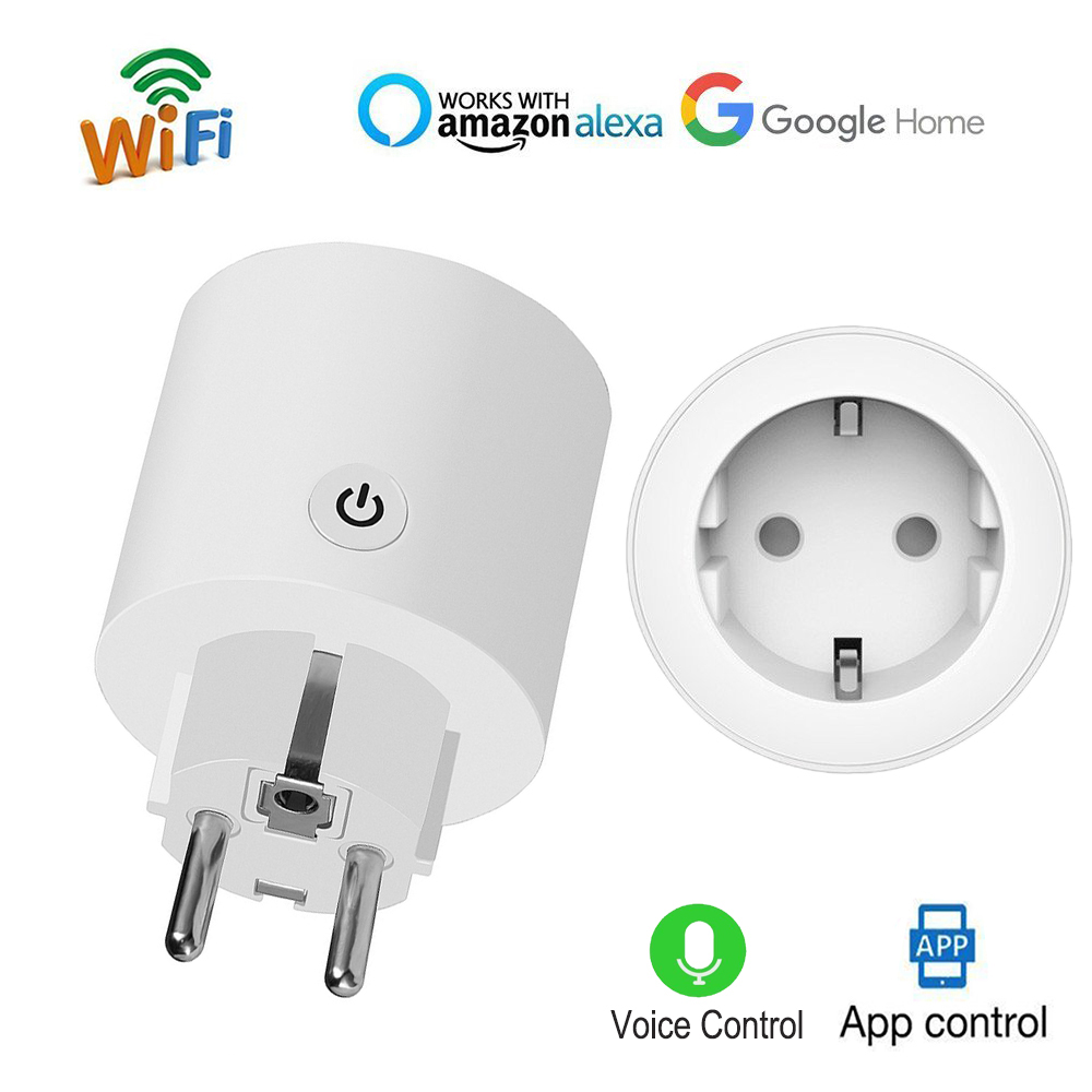 WiFi Smart EU plug Timer Switch wireless 10A power socket voice control wrok with Alexa Echo and Google Home APP control anytime
