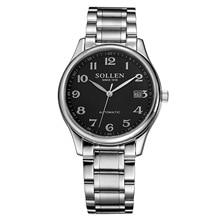 Новая Мода Luxury Brand SOLLEN Мужчины Часы Автоматические Механические Часы Полые Люди Tourbillon Механические Часы С Оригинальной Коробке