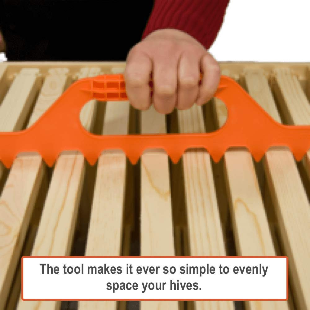 Frame-Spacer Beekeeping-Supplies-Items Spacing-Tool Bee-Hive-Frame Plastic Orange 19eroute66