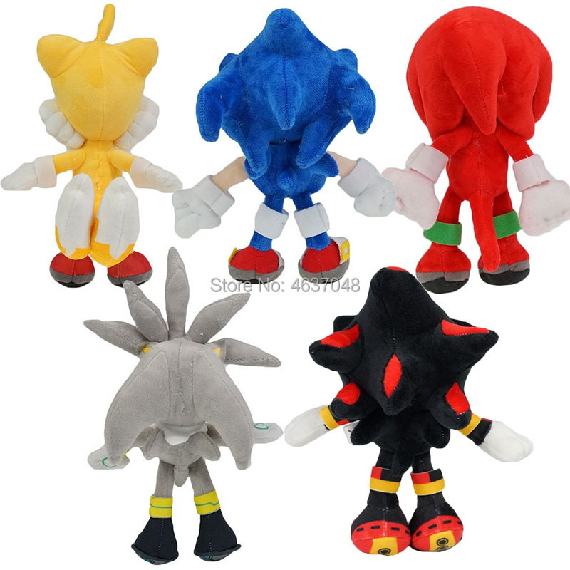23CM Peluica Sonic Plush Toys Cartoon Soft Stuffed Animals Doll For Kids Gift image