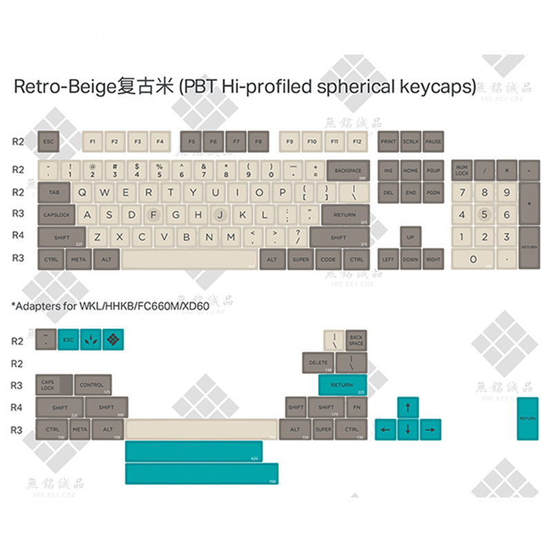 Retro Beige 134 KEYS SA PBT Keycap dye subbed Keycap Cherry MX switch keycaps for Wired USB Mechanical Gaming keyboard