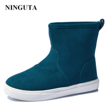 2016 hot sale women boots genuine leather ankle suede snow boots winter shoes for women boot shoe 35-44