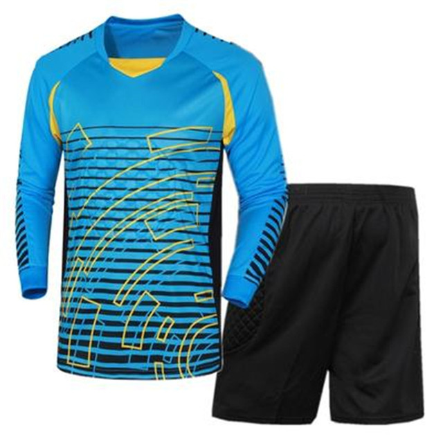 200f3971d The Latest Long Sleeve Goalkeeper Uniforms Breathable Soccer Men Best  Selling Soccer Sets Goalkeeper Sport Training Suit