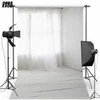 DAWNKNOW rideau blanc vinyle photographie fond blanc bois plancher Polyester décors pour mariage Photo Studio S1881
