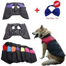 Водонепроницаемый Pet Теплая зима Одежда для собак жилет пуховик Костюмы пальто 4 цвета S-5XL с рождественский подарок