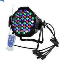 Professionelle led beleuchtung 54 stücke 3 W Voll farbe led par kann licht mit fernbedienung contrl funktion