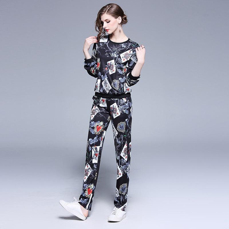 PADEGAO automne 2019 nouvelle Station européenne uniforme scolaire pantalon mode deux costumes pour les vêtements de sport de loisirs pour femmes