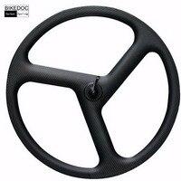 700C 22 6 China Carbon 3 Spoke Wheel Clincher Only High Quality Carbon Tri Spoke Wheel