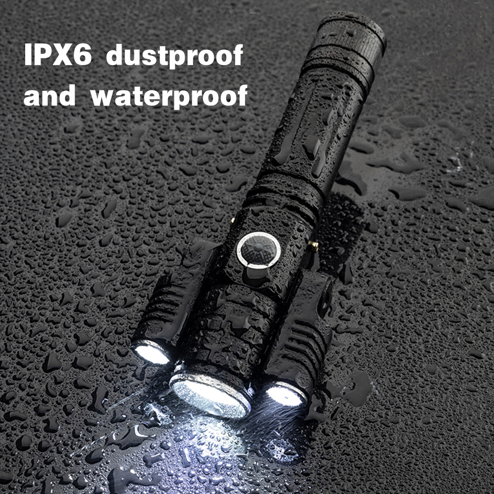 Купить с кэшбэком Deformable LED Flashlight Super bright Torch 1T6+2XPE Zoomable 4 lighting modes Powered by 18650 battery For camping, hunting