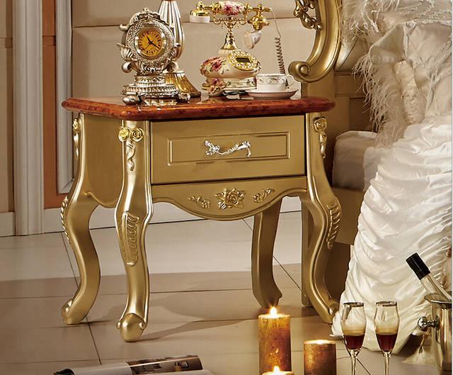 Fonkelnieuw Golden antieke slaapkamer meubels comfortabel bed in Golden AQ-42