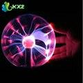 "3 ""USB Plasma Ball Esfera Eletrostática Luz Mágica Bola De Cristal Da Lâmpada Globo De Mesa Portátil de Raios de Luz Festa de Natal"