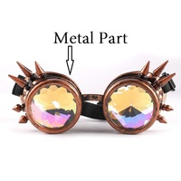 Vazrobe Spiked Sunglasses Steampunk Gothic Goggles Vintage Retro Decorative Eyewear Party Celebrity Gift Punk Colorful Lens