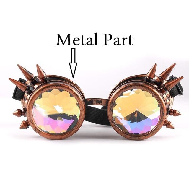 41991847d7 Vazrobe kaleidoscope Sunglasses men women Steampunk round rave Sun Glasses  Gothic Goggles Vintage Retro festival hippie