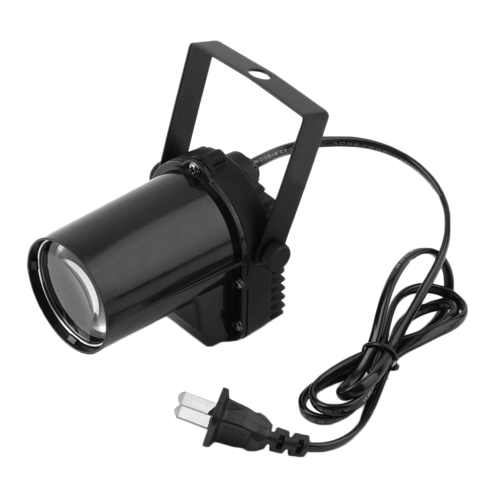 3W LED Spotlight Spin Stage Lighting Party Show Light Mount Effect Pinspot Worldwide Store