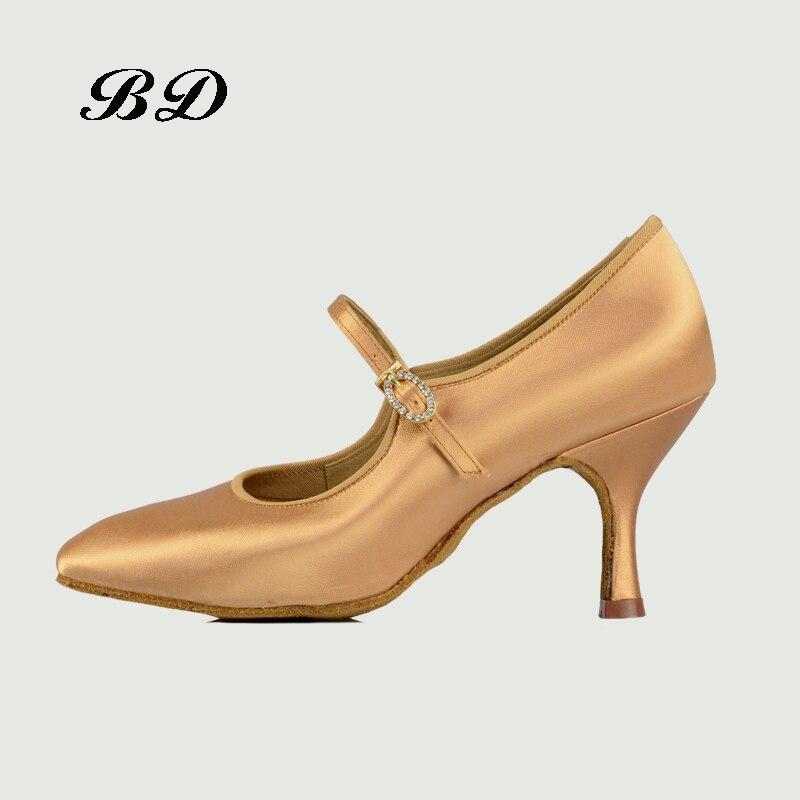 Drilling Buckle Dance Shoes Ballroom Women Latin shoes Modern Dancing Wear-resistant Sole Sweat Absorption Deodorant BD 137 HOT