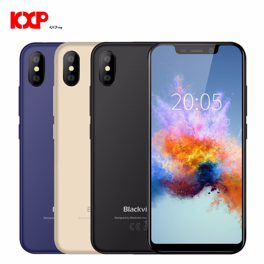New Arrival Original Blackview A30 Smartphone 19:9 5.5 inch 2GB RAM 16GB ROM MT6350V Android 8.1 dual Camera 8MP 3G Mobile phone