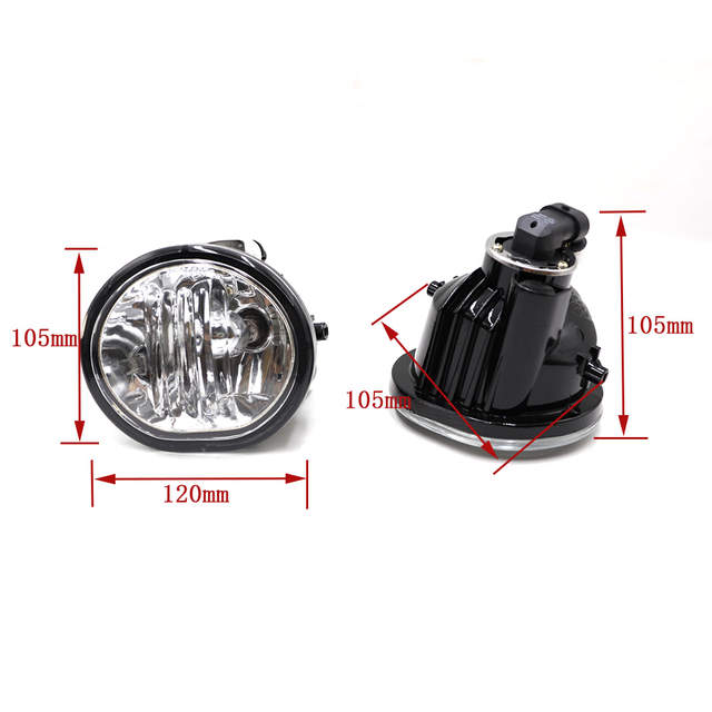 Placeholder Fog Light For 2003 2008 Toyota Matrix Pontiac Vibe Lamps Clear Lens Per