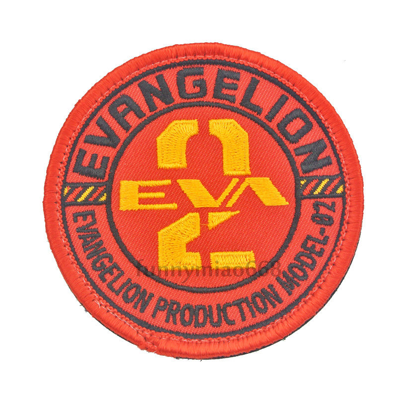 Neon Genesis Evangelion EVA Production Model-02 Cosplay Embroidered Patch Badges DIY Backpack Patches Badge Bags Paste Appliques