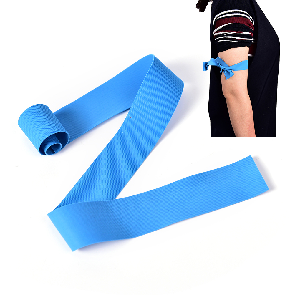 New 2.5m*48cm Practical Blue Latex Medical Tourniquet Outdoor Emergency Necessities Stop Bleeding Strap First Aid Supplies