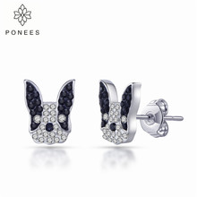 PONEES New Arrival Animal Earrings French Bulldog Earrings Cute Puppy Dog For Wo