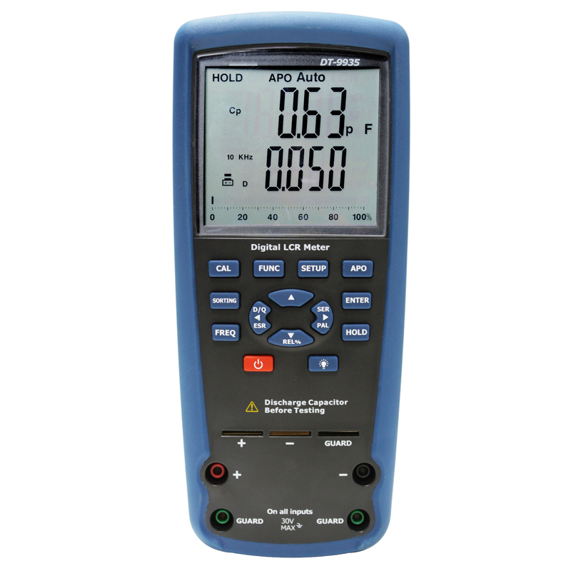 The LCR tester multimeter tester digital electrical Inductance capacitance resistance test table high precision digital capacitance inductance meter auto ranging component tester 500kh lc rc oscillation inductance multimeter