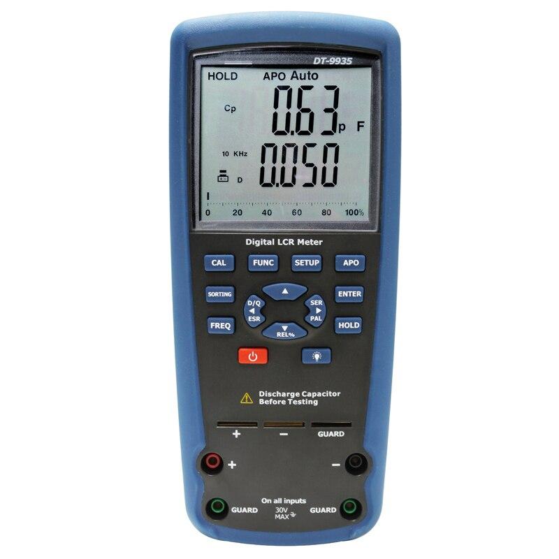 O LCR tester testador multímetro digital Indutância capacitância resistência elétrica tabela de teste