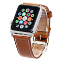 V-MORO Genuine Leather Watch Band Single Tour Bracelet Leather Wris strap For Apple Watch 38mm 42mm