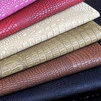 100x133cm Semi Pu Crocodile Leather Bag Fabric Leather Meter Car Seat Upholstery Fabric Tappezzeria Holographic Shoes