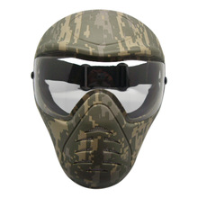Heavy Duty Paintball Mask with Anti Fog Single Lens Outdoor Army Full Face Airsoft Mask Party Cosplay Mask outdoor paintball airsoft full face protection goldf templar mask helmet cosplay tb563 face mask free shipping