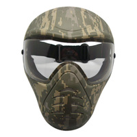 Heavy Duty Paintball Mask with Anti Fog Single Lens Outdoor Army Full Face Airsoft Mask Party Cosplay Mask