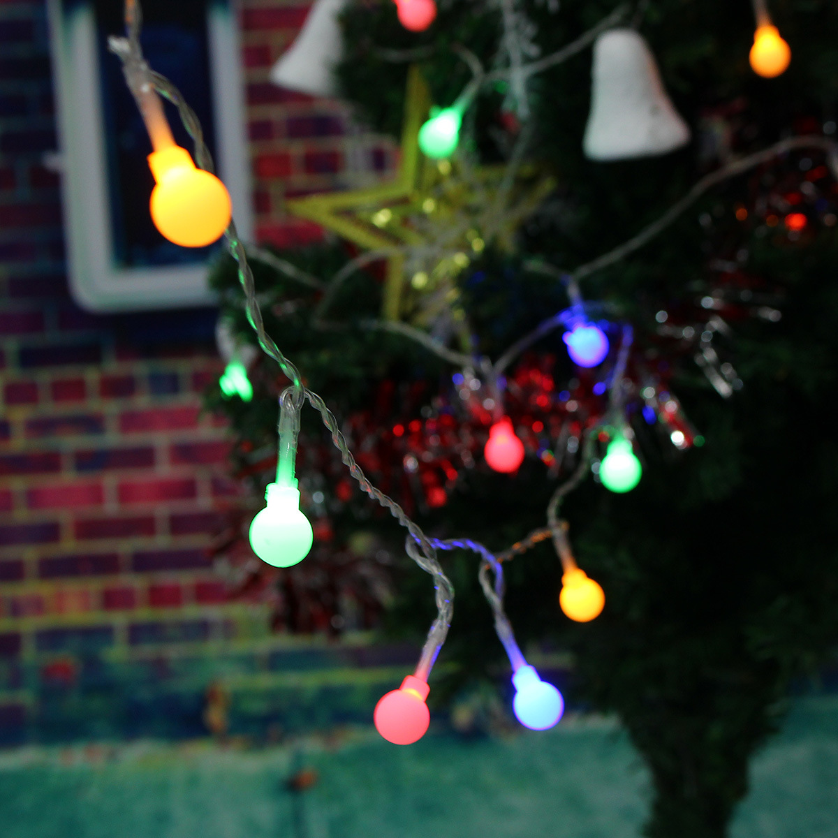 2.3 meters 20 small Colorful white ball battery box light string Christmas tree festival interior decoration light string