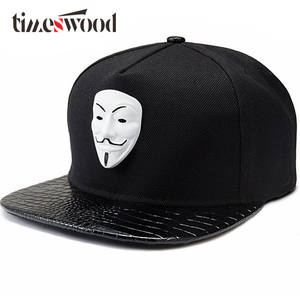 2d3ed4cbc9d TIMESWOOD Hip Hop Snapback Baseball Caps Black Hats Brim
