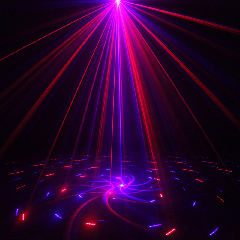 ФОТО Remote 2lens 20 Patterns Club Bar Blue Red RB Laser LED 3W Stage Lighting Holiday Xmas DJ Dance Party 300mw show Projector Light