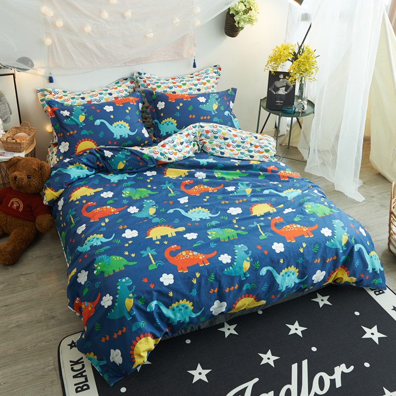 Colorful Dinosaurs Simple Bedding Sets 3/4Pc Twin Queen ...