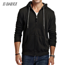 E-BAIHUI 2019 new autumn cotton zipper coats mens fashion hoodies and sweatshirts man casual winter men jacket 5742
