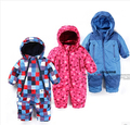 2015 nova chegada do bebê macacão de outono e inverno, macacão de bebê menino menina à prova de vento e à prova d' água, snowsuits bebê, a roupa do bebê