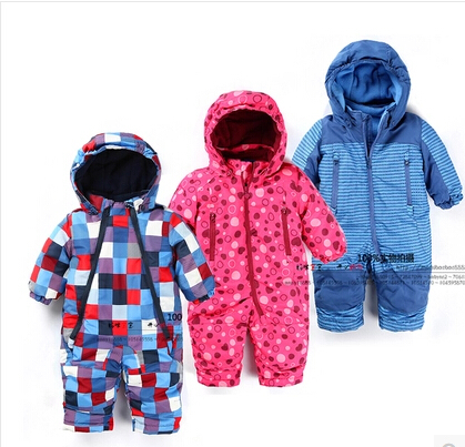 2015 new arrival baby rompers autumn and winter , baby boy girl windproof and waterproof coveralls, baby snowsuits, baby clothes