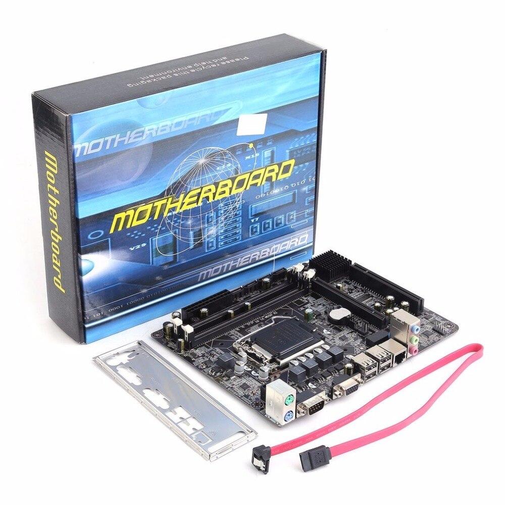 Carte mère professionnelle H55 LGA 1156 DDR3 RAM 8G carte mère ordinateur de bureau