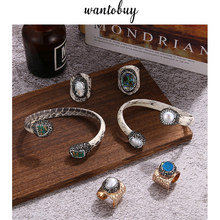 Wantobuy Vintage Copper Real Snake Sin Bracelet Open Ring Baroque Imitation Pearl Crystal Bracelet кольцо с браслетом винтаж кольцо винтаж cesare conte
