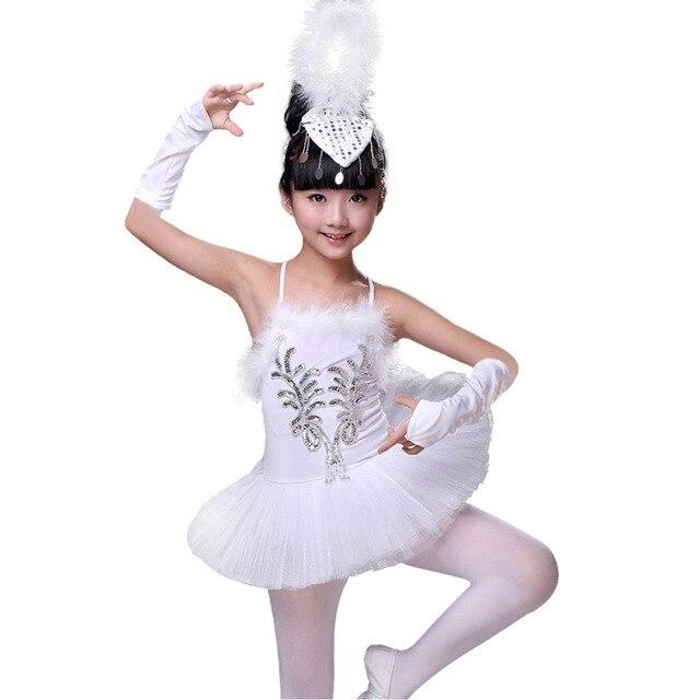 da5133f76 Girls Little Swan Ballet Dance Costume Tutu Dress Leotard Matching ...