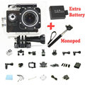 Soopash Action Camera Wifi 2.0 LTPS LED mini cam recorder marine diving go waterproof pro 1080P HD DV two batteries + monopod
